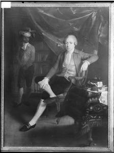 Portret van Jan Gerhard Wichers (1745-1808), met een bediende