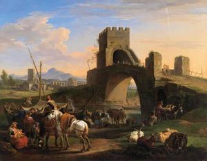 Dieren en figuren bij de Ponte Salario, Rome