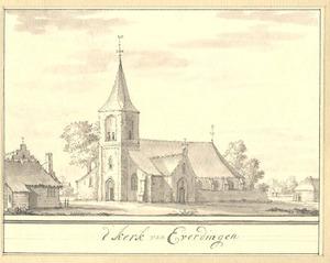 Everdingen, gezicht op de kerk