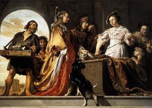 Odysseus ontdekt Achilles temidden van de dochters van Lykomedes
