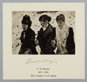 Drie vrouwen in de sneeuw