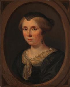 Portret van een vrouw, genaamd Margaretha Verkolje (....-1679)