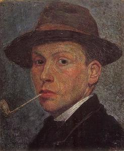 Zelfportret van Piet Wiegman (1885-1963)