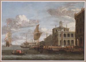 Fantasiegezicht op Venetië, de Bacino en de Piazetta