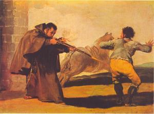Broeder Pedro schiet op El Maragato terwijl zijn paard wegrent