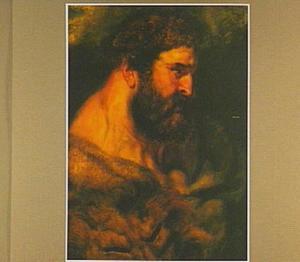 Kop van de Griekse halfgod Hercules