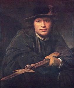 Portret van een onbekende man met een hellebaard