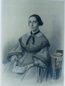 Portret van Alida Philippina Johanna Reincke de Sitter (1825-1892)