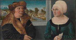 Portret van een man en zijn vrouw
