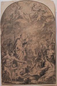De Heilige Martinus wekt een dode terug op