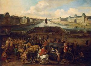 Gezicht op de Pont Neuf in Parjs