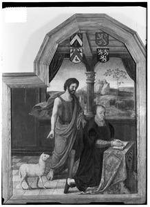 Portret van Jean Micault ( -1539) met Johannes de Doper