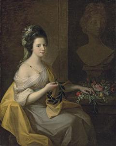 Portret van een vrouw, mogelijk Elizabeth Muncaster, geboren Dale (ca. 1742-na 1768)