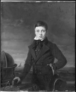 Portret van Gerardus de Lange (1817-..), kwekeling aan de Kweekschool voor de Zeevaart te Amsterdam