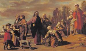 Een Kanaänitische vrouw smeekt Jezus haar dochter te genezen (Matteüs 15:21-28); Marcus 7:24-30)
