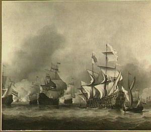 Verovering van het Engelse admiraalsschip de 'Royal Prince', 13 juni 1666, tijdens de Vierdaagse Zeeslag, 11-14 juni 1666: episode uit de Tweede Engels Oorlog (1665-1667)
