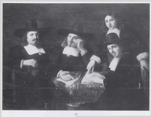 Portret van vier onbekende regenten