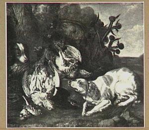 Honden bij jachtbuit van gevogelte