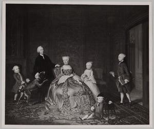 Portret van Jan Carel van der Muelen (?-1801), Cornelia Constantia Ortt (1727-1775) en hun kinderen