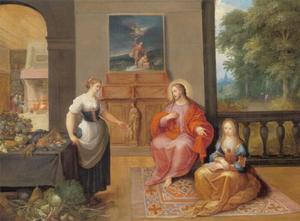 Jezus in het huis van Maria en Martha