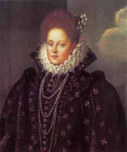 Portret van Margherita Gonzaga d'Este, hertogin van Ferrara (1564-1618)