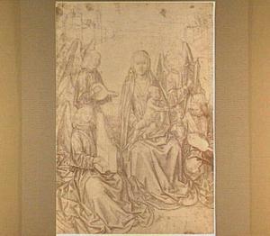 Maria met kind en vier musicerende engelen