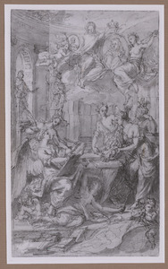 Allegorie betreffende de Franse monarchie