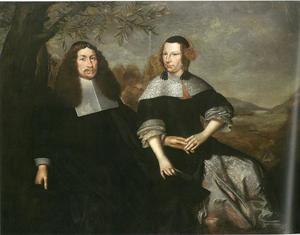 Dubbelportret van de koopman Nicolaus Tiling en zijn vrouw Cunigunde