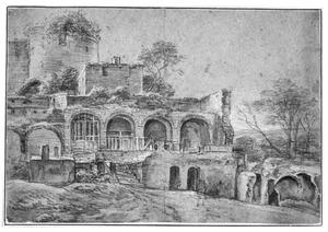 Ruïne van een kasteel of fortificatie