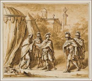 Coriolanus in zijn kampement buiten Rome