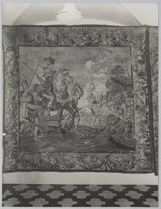 Alexander de Grote stuurt zijn troepen ten strijde