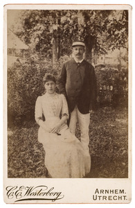 Portret van Hendrik Jan Broers (1858-1937) en Cornelia Hermina Stakman (1871-1945)