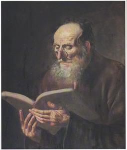 Een lezende oude man