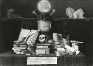 Vanitasstilleven met boeken