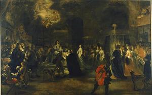 Het huwelijk van prinses Hedwig Eleonore van Schleswig-Holstein-Gottorf met de Zweedse koning Karel X Gustaaf op 24 oktober 1654
