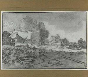 Landschap met boerderij