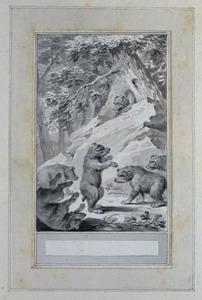 Illustratie bij 'De dansende beer' uit de Fabelen en vertelsels van F.C. Gellert