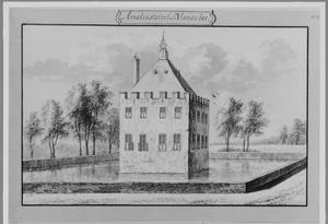 Achter- en linkerzijde van het nieuwe huis Amaliastein