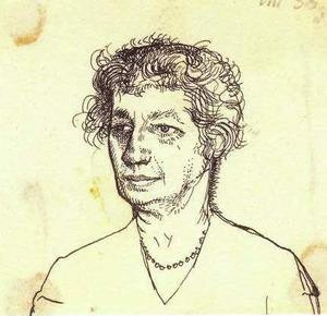 Portret van Ellen Philippi (1865-1945), de moeder van de kunstenaar