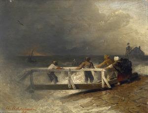 Storm op de nederlandse kust