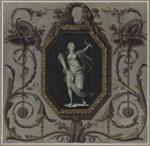 Decoratie met een medallion met Ceres