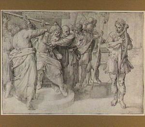 Saul probeert de harpspelende David te doden (1 Samuel 18:11)