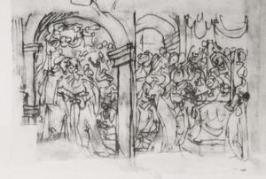 De ontmoeting tussen Joachim en Anna bij de gouden poort; De besnijdenis van het Christus-kind