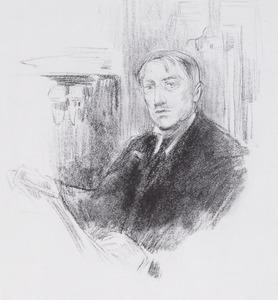 Zelfportret van Piet Slager jr. (1871-1938)