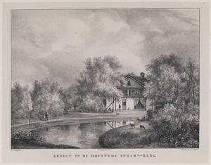 Vijver en chalet op het landgoed Spaarnberg