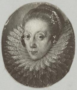 Portret van een vrouw genaamd Louise Juliana van Oranje-Nassau (1576-1644)