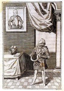Karel van Habsburg (1607-1632), infante van Spanje, een portret van keizer Karel V beschouwend