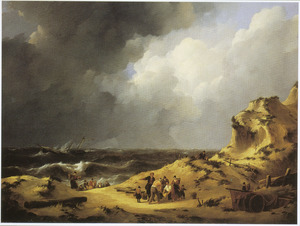 De ondergang van de driemaster 'Delphine' bij Zandvoort in 1822 en het bergen van de slachtoffers