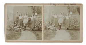 Groepsportret met Johanna Christina Maria Spoor (1883-1932) en Christina Diderika Carolina Spoor (1886-1942)