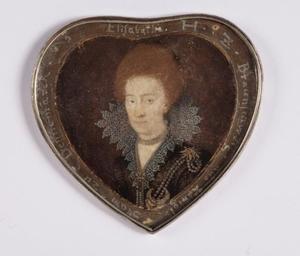 Portret van Elizabeth (1573-1626), zus van koning Christiaan IV van Denemarken, getrouwd met Heinrich Julius, hertog van Brunswijk-Wolfenbuttel